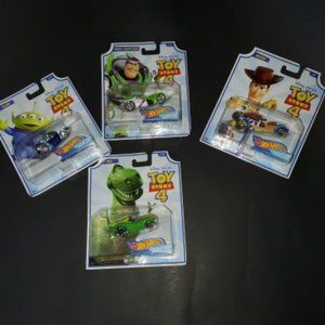 Hot Wheels Toy Story 4 Character Cars - Set of 4